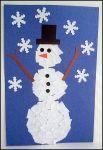 scrap paper snowman