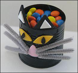 black cat candy tin