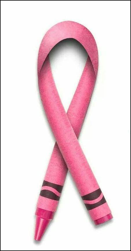 breast cancer awareness crayon