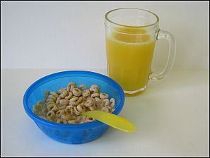 cereal and juice