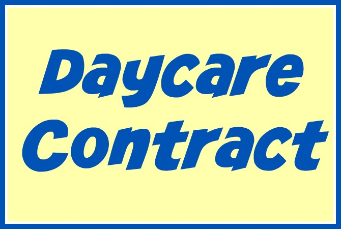 home daycare contract samples