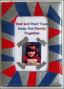 duct tape picture frame