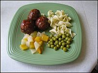 meatballs and noodles