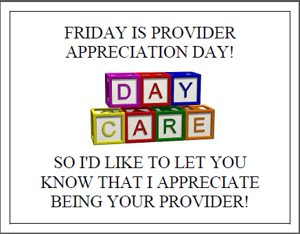 provider appreciation day