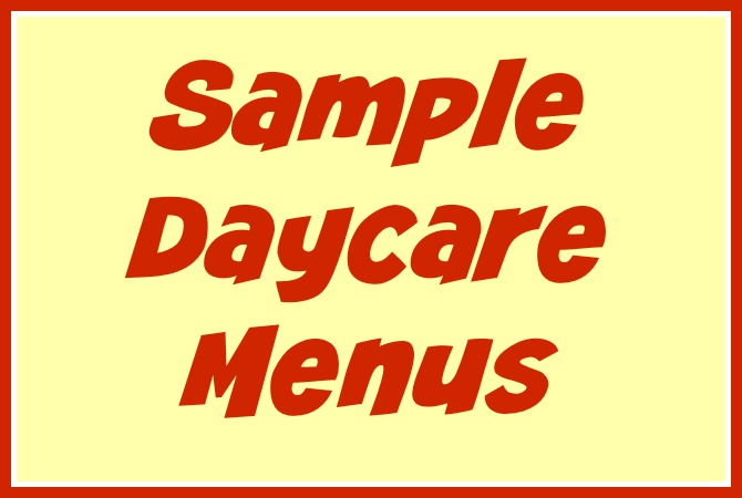 free daycare forms and sample documents