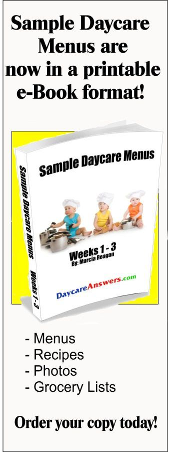 sample daycare menus