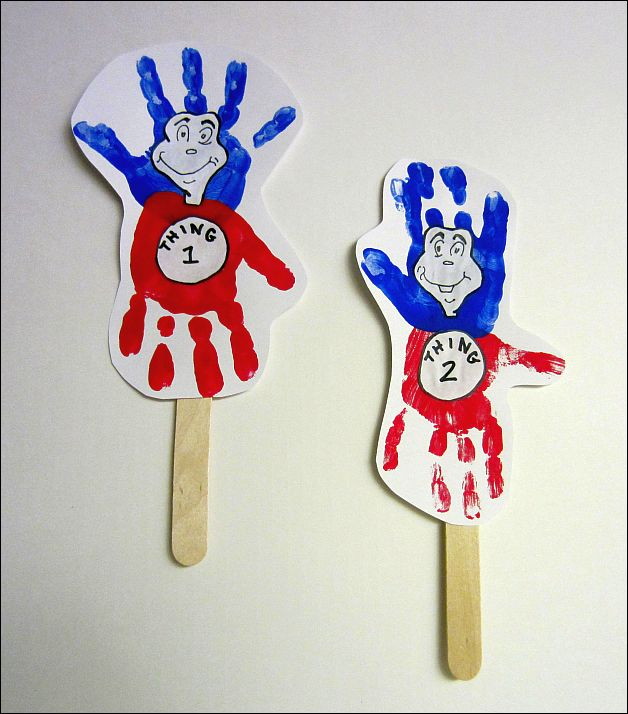 White cardstock paper Thing 1 and Thing 2 Template Red and blue ...